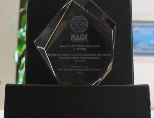 PADI AWARD 2016 für Tauchteam WasserFest