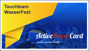 Tauchteam Wasserfest Active Power Card